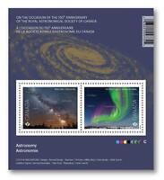 2018 CANADA Post 📭🌒🚀 ASTRONOMY Souvenir Sheet 📭🌒🚀