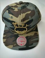 Golden State Warriors Mitchell & Ness Snapback Hat Cap CAMO NBA HWC The City