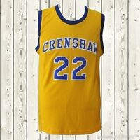 Quincy McCall Jersey Crenshaw #22 Love and Basketball Stitched Sewn Yellow NWT
