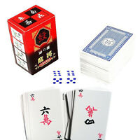 144 Mahjong Cards Multiplayer Game Innovate Chinese Traditional Folk Games