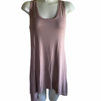 LOGO Layers By Lori Goldstein Women's Brown Tunic Tank Top Shirt Size Small