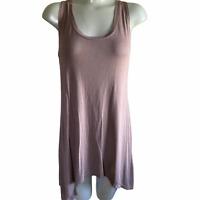 LOGO Layers By Lori Goldstein Women's Brown Tunic Tank Top Shirt Size Small
