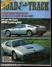 Road & Track October 1977 Torbo Saab Renault Mirage Mid-Engine BMW Lamborghini