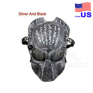 Tactical Airsoft Alien Vs Predator Protective Mask For Halloween Cosplay USA