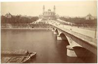 France, Paris, le pont de Iéna et le Trocadéro  vintage albumin print Tirage