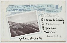 South Eastern, Chatham & Dover Railways Official Postcard The Lees, Folkestone