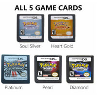 5Pcs Pokemon HeartGold SoulSilver Game Card For Nintendo 3DS NDSI NDSLL NDS Lite