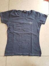 CALVIN KLEIN   tee shirt  S BLEU MARINE FEMME