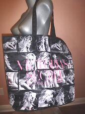 Victoria's Secret Black Bombshell Supermodel Large Tote Bag
