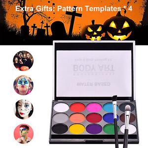 Body Face Paint Kit Professional Party Halloween Washable Colour Makeup Palette