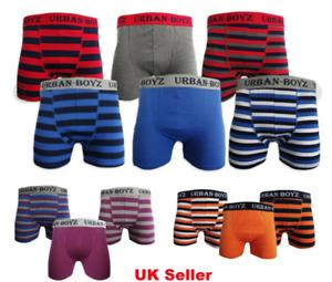 Mens Urban Boyz Stripe Boxer Shorts Pants Underwear PACK OF 3 6 9 12 Size S-5XL