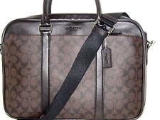 New Auth Coach Men's Mahogany Brown Slim Signature Briefcase Bag F71794 NWT $495