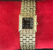 Designer Rare Mint Art deco Quartz Bueche Girod 14k Yellow gold Ladies Watch