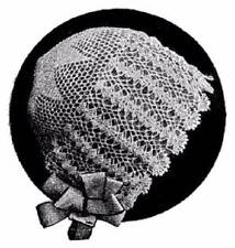 Vintage Baby Bonnet cap hat Crochet PATTERN ONLY