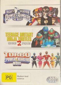 Mighty Morphin Power Rangers / TMNT 2 / Turbo (DVD, 2010, 3-Disc Set)