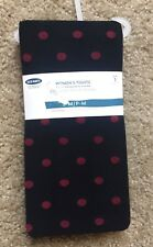 OLD NAVY Women's NWT Black/Red Polka Dot Tights Size S-M