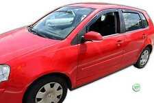 DVW31136 VW POLO 9N/9N3 5 Door 2002-2009 WIND DEFLECTORS 4pc HEKO TINTED