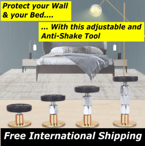 Adjustable Bed Frame Anti-shake Tool Headboard for wall & bed frame 2PCS 6-11cm.