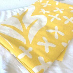 Vintage MARIMEKKO by Dan River Bright Yellow Floral Twin Size Flat Sheet