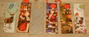 2 x CHRISTMAS BOTTLE GIFT BAGS WRAP RED GOLD SILVER CHRISTMAS WRAP