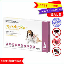 Revolution Pink For Puppies & Kittens upto 2.5 Kg 3 Pipettes by Zoetis AU Seller