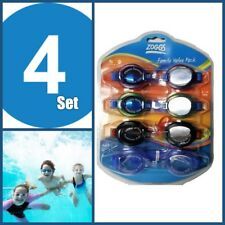 Zoggs Swimming Goggles With UV Protection and Anti Fog - 4 pack - Adults / Kids