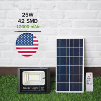 LED Flood Light Solar With Remote For Garden - Back Yard - Easy To Install