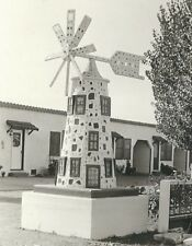 CD-030 CA, Santa Rosa, Blue Bonnet Auto Court Real Photo Postcard RPPC Windmill