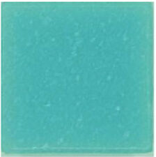 Aqua Blue Frost Glass Mosaic Tiles - 25 Tiles - 3/4 inch Venetian Vitreous