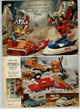1968 PAPER AD 2 PG Billy Blastoff Toy Space Scouts Buddy L Camper Tow Truck RV