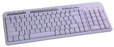 Design Tastatur Multimedia USB PK703 Persisch Deutsch Weiß