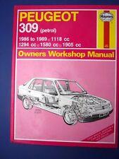 Haynes Owners Workshop Manual Peugeot 309 petrol 1986 to 1989 (1712)