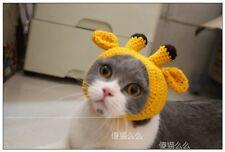 Giraffe Style Pet Wear CAT Woolen Cap Knitted Cosplay Decoration Hat headdress