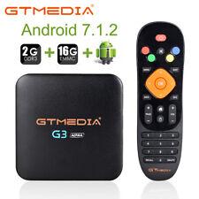 2GB+16GB Android TV Box gtmedia G3A 7.1.2 4K LETTORE MULTIMEDIALE HDMI 2.4/5GHz WIFI BT