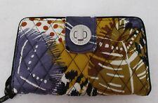 Vera Bradley Turn Lock  Wallet Painted Feathers NWT