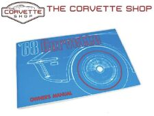 Corvette Owners Manual 1968 NEW 470868