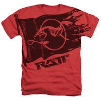 New Authentic Ratt Rock Band Flag logo Heather SOFT adult T-shirt S M L X 2X top