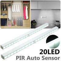 20 LED Wireless PIR Motion Sensor Battery Under Cabinet Closet Light Night Lamp