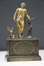 Antique gilt ormolu bronze Regency statue Shakespeare sculpture original 1822