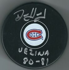 "Signed DENIS HERRON ""81 Vezina"" Montreal Canadiens Puck - w/ Show Ticket"