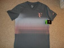 NWT Nike Federer Premier RF Trophy V Neck Tennis Shirt 547585-411 Nadal Medium