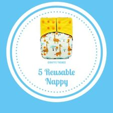Reusable nappies with charcoal bamboo insert/boosters : from birth to potty