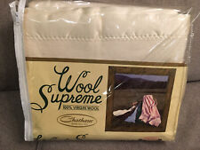 Chatham Wool Supreme 100% Virgin Wool Twin Size Blanket