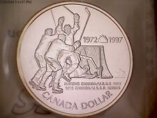CHOICE CANADA 1997 SILVER DOLLAR SUMMIT SERIES '72  ICCS MS-67 NUMISMATIC B. U.