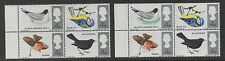 1966 British Birds (ord). Block x 4 with green omitted error. Fine MNH. Scarce!