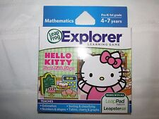 LEAP FROG EXPLORER HELLO KITTY SWEET LITTLE SHOPS LEARNING GAME NIB MATH