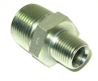"3/4"" x 1/2"" Male NPT Hex Nipple Plated Steel Hydraulic Adapter New <5404-12-08"