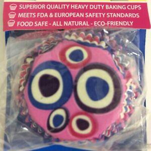 Cupcake Creations Baking Cups 32 Count Fun Pink Circles