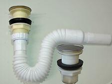 Ablaufgarnitur Flexibel Siphon Pop-Up Ablaufventil  Ablauf Abfluß Waschbecken