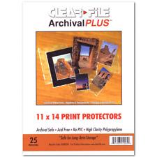 Clear File Archival Plus Print Bags 11X14 Pkg 25